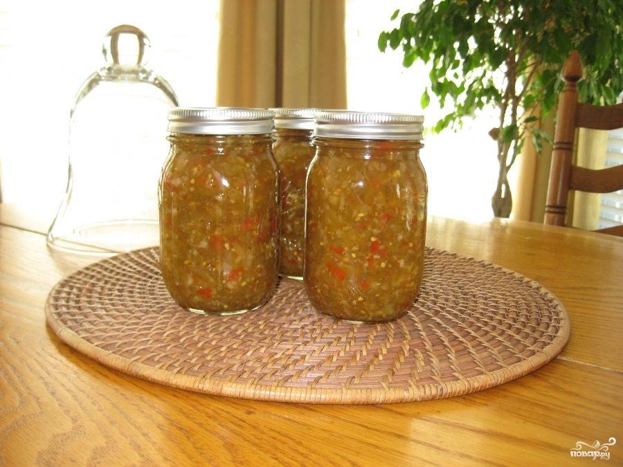 Релиш из зеленых помидоров