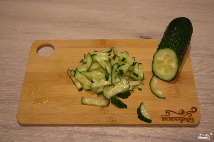 салат с языком рецепт с фото огурец