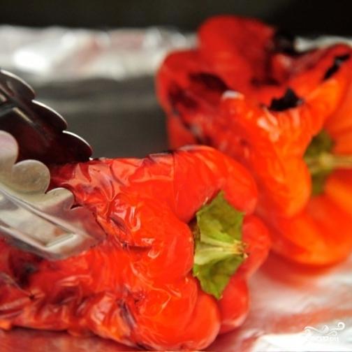 Запеченный болгарский перец в духовке - фото шаг 2
