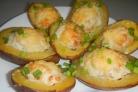 Картофель, запеченный с фаршем