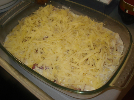 Пельмени, запеченные с сыром - фото шаг 7