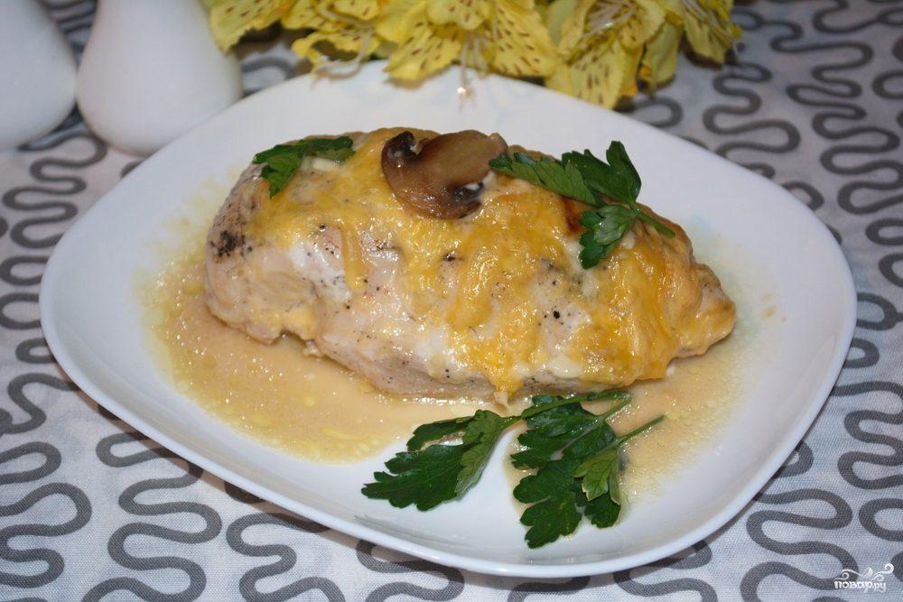 мясо в духовке с шампиньонами рецепты