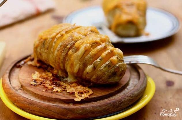 Печеный картофель с сыром - фото шаг 4