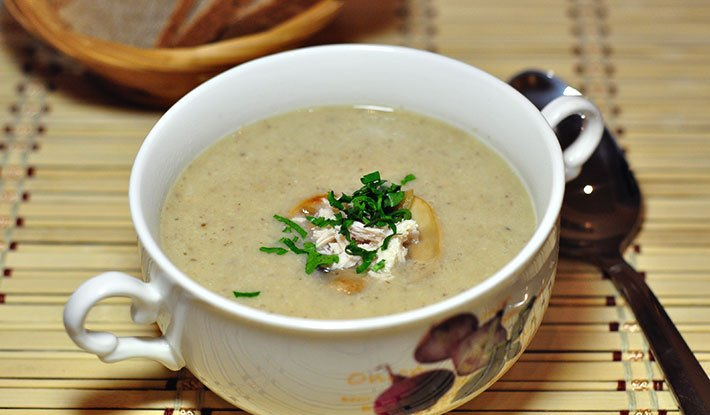 грибной суп в микроволновке рецепт