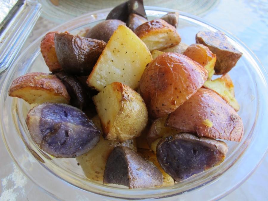 рецепт запечь форель с картошкой в духовке