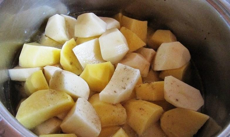 Штрудель с курицей и картошкой - фото шаг 9