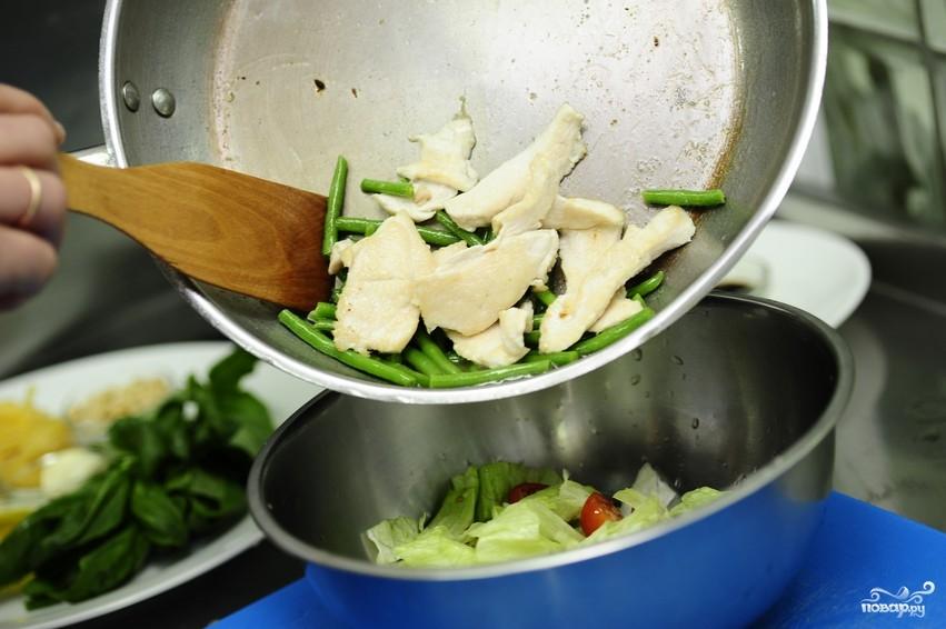 Салат из стручковой фасоли с курицей - фото шаг 14