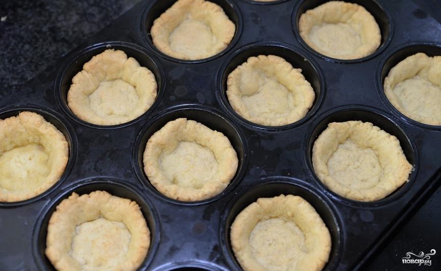 Тарталетки в духовке с начинкой - фото шаг 4