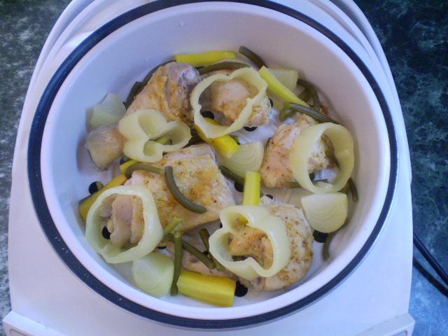 Курица с овощами на пару - фото шаг 6