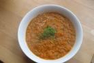 Суп с помидорами, кабачками и луком