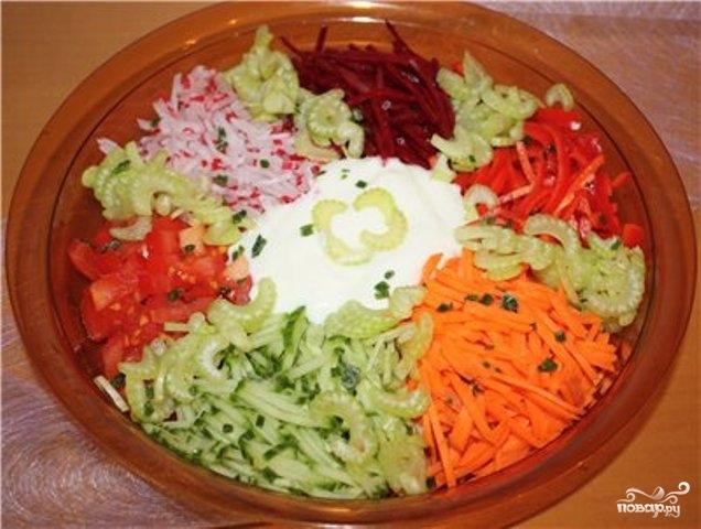 Салат к голубцам