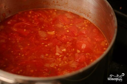 Итальянский томатный суп с хлебом - фото шаг 3