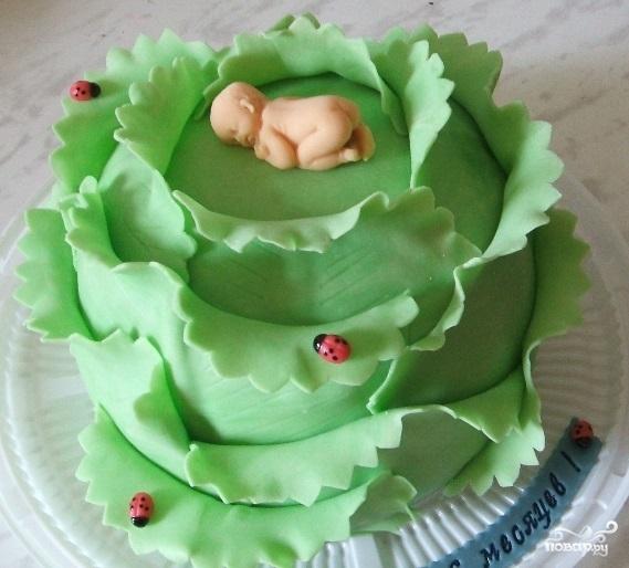"""Торт """"Капуста с младенцем"""""""