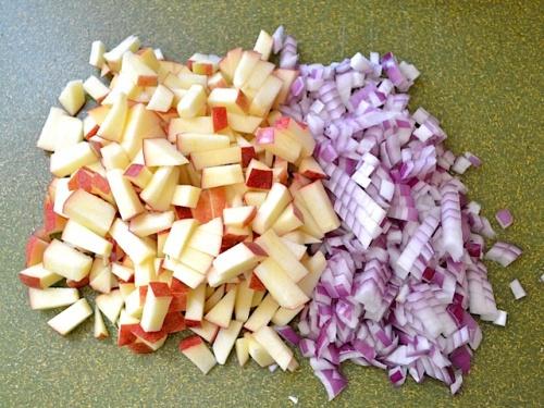 Салат с курицей и яблоком - фото шаг 3