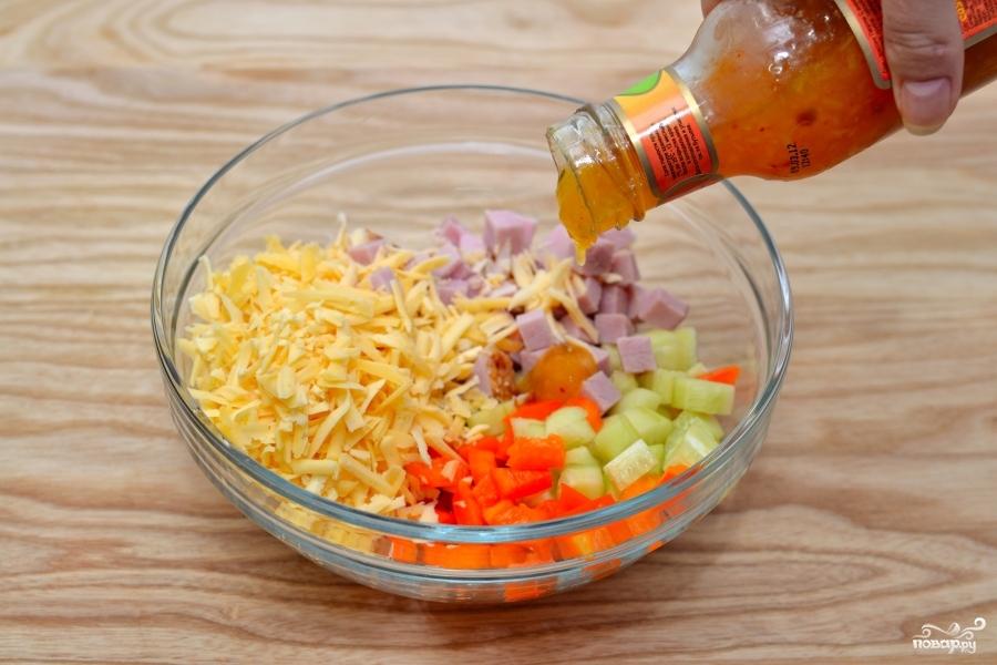 Салат из цветных макарон - фото шаг 3