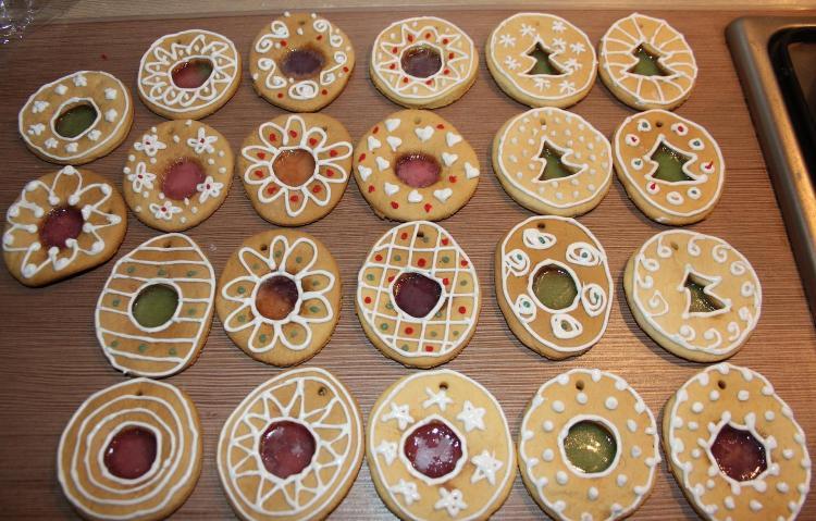 Новогоднее печенье на елку - фото шаг 9