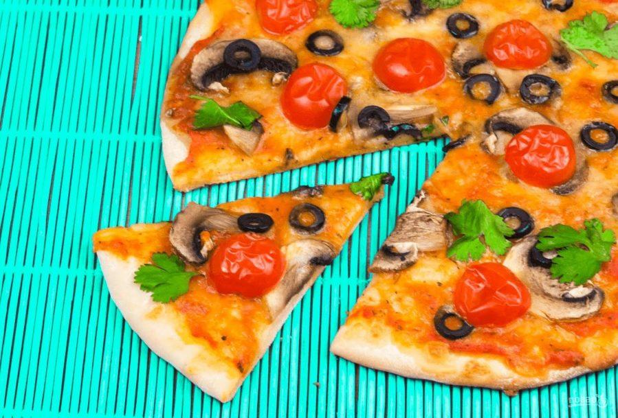 пицца с хрустящей корочкой рецепт с фото