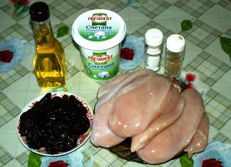 Рецепт Рулет куриный с черносливом