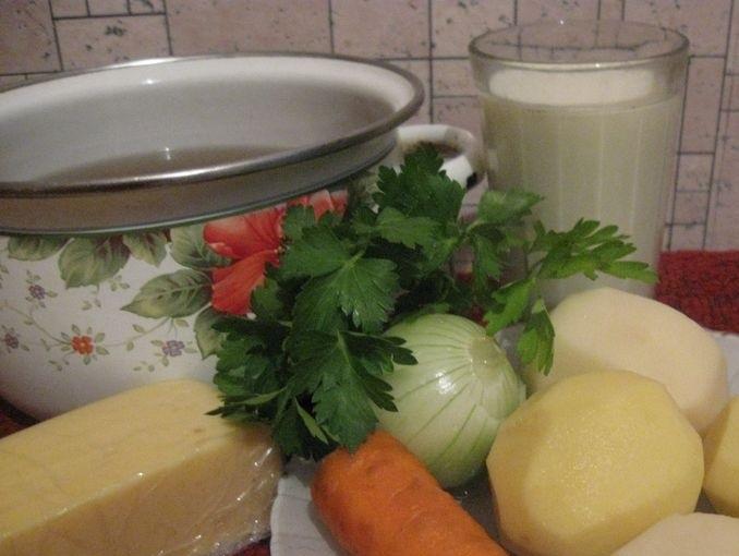 Рецепт Суп на грибном бульоне