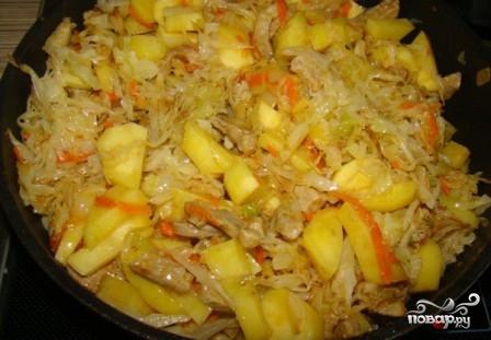 рецепт солянки с мясом и капустой и картошкой