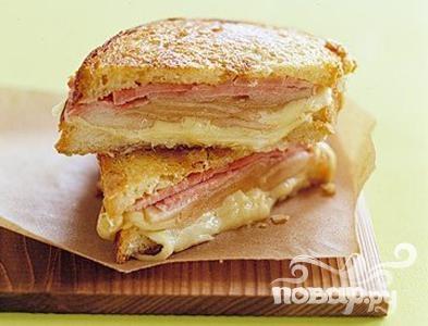 Рецепт Сэндвичи с сыром, ветчиной и грушей