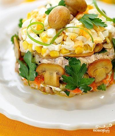 салат из ветчины с солеными огурцами рецепт с фото