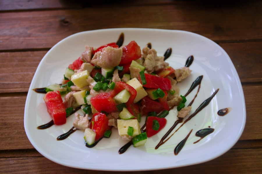 Салат с фетой и курицей - фото шаг 6