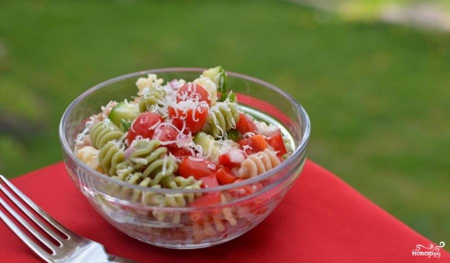Итальянский салат с пастой - фото шаг 6