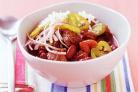 Жаркое из говядины, итальянских колбасок и помидоров