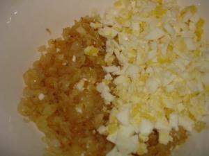 Кальмары, фаршированные рисом и грибами - фото шаг 4
