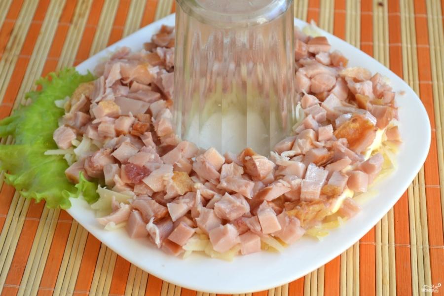Курицей копченой салат с простой рецепт с