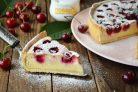 Вишневый тарт с творогом