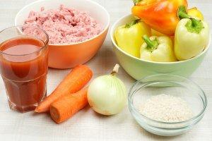 Рецепт Запеченные перцы с фаршем
