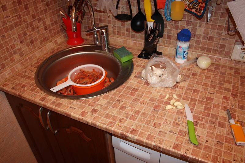 рецепт приготовления креветок в панцире на сковороде