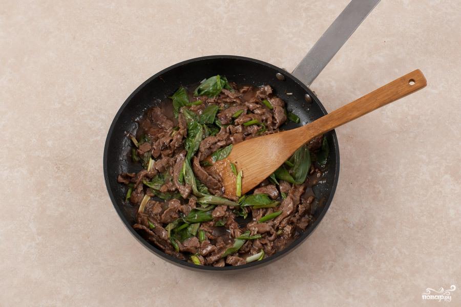 мясо с базиликом рецепт