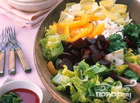 Рецепт Салат со свеклой, апельсинами и эндивием