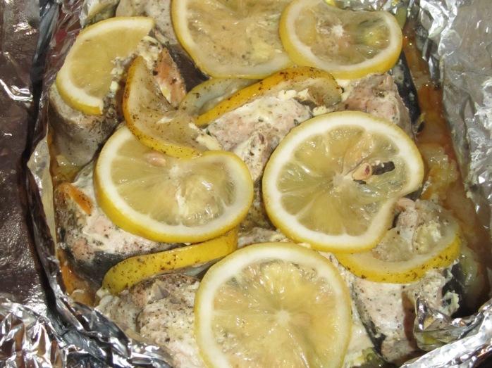 Горбуша с лимоном рецепты