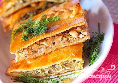 Рецепт Пироги с лососем и овощами