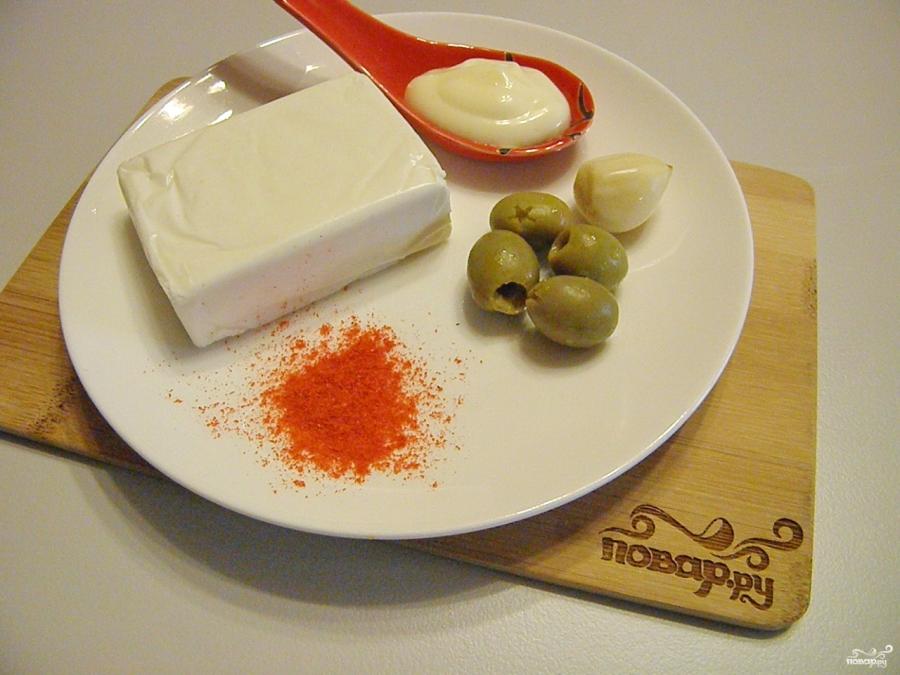 """Плавленый сыр с чесноком """"Мандаринки"""" - фото шаг 1"""