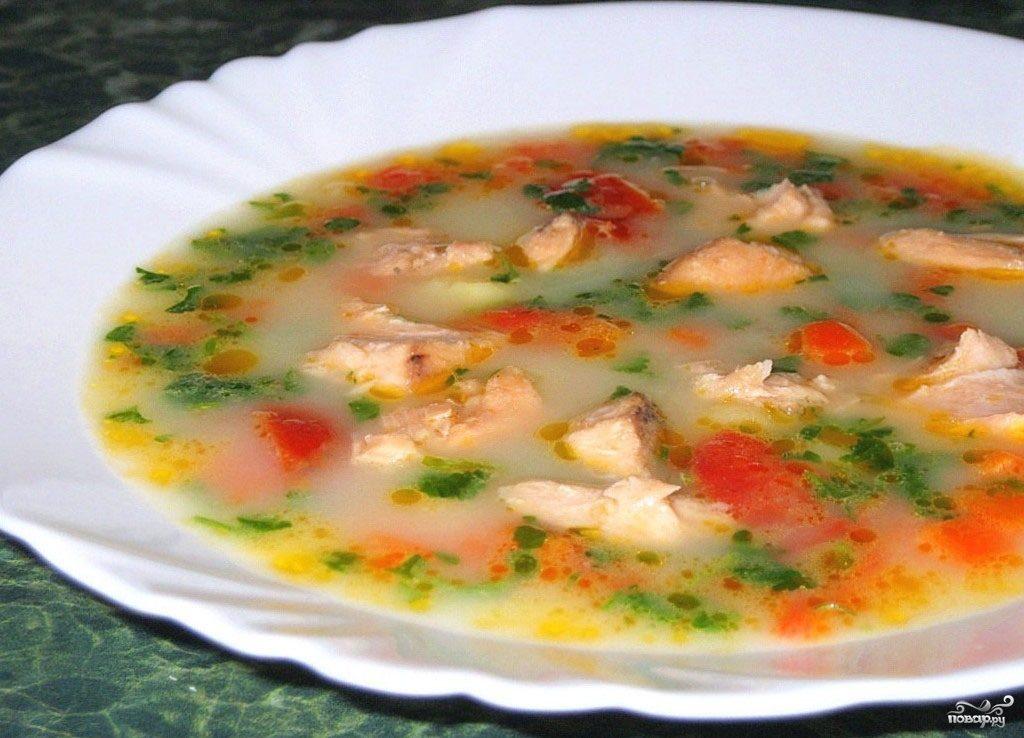 Рецепт Суп из форели со сливками