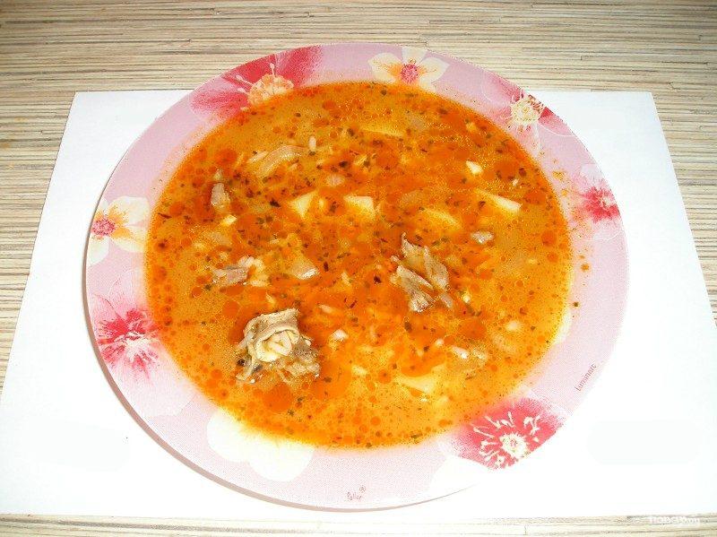 Суп из говядины с томатной пастой
