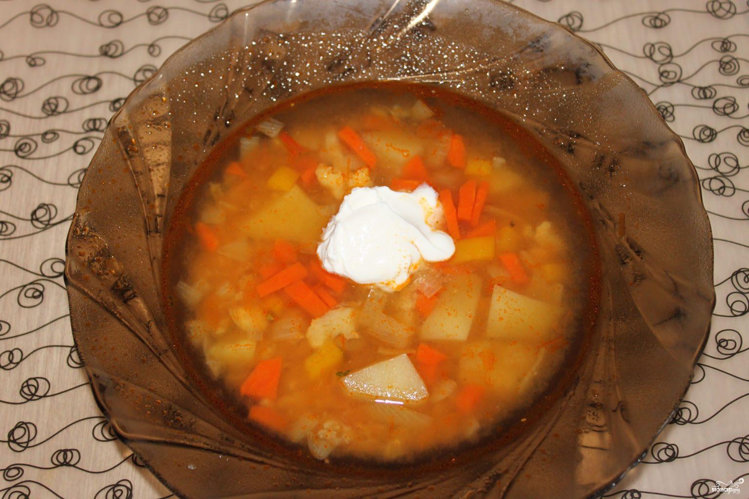 рецепт вегетарианского супа в мультиварке
