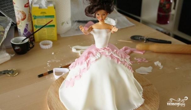 Торт кукла пошаговое приготовление
