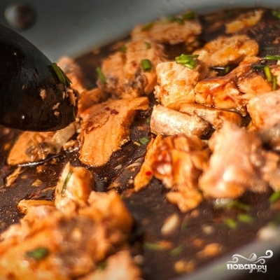 Паста с лососем - фото шаг 7