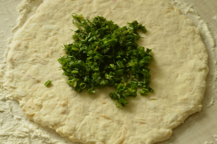 Сырные лепешки с ветчиной - фото шаг 3