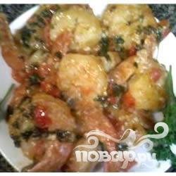 Рецепт Чесночный соус с креветками