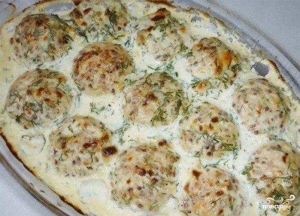 Рецепт Тефтели в духовке со сметаной