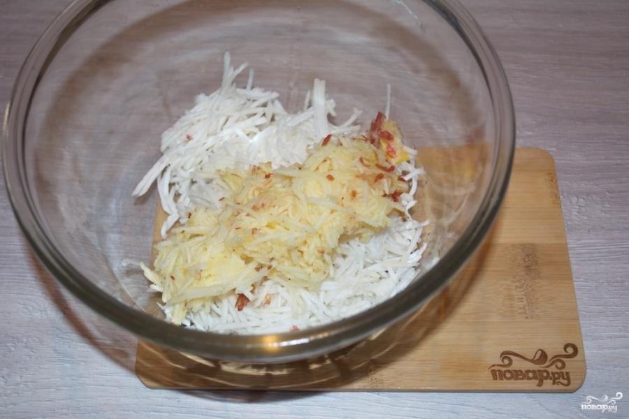 Салат из редьки - фото шаг 4