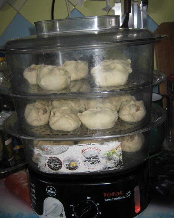 Манты с грибами и картошкой - фото шаг 5