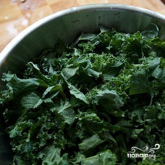 Салат из сквоша, кале и фасоли - фото шаг 4